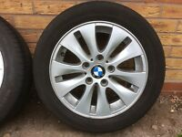 """Set of bmw wheels 15"""" five stud all good condition"""