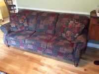 Couch and chair with 2 matching cushions