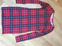 Boohoo ladies tartan bodycon dress size 8