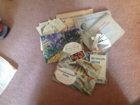 Collection of cigarette and tea cards