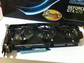 Gigabyte GeForce GTX 670 Windforce 3x 2GB DDR5. Graphics Card GPU