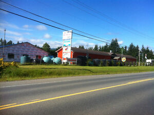 Commercial shop on Hwy 4 in Coombs for rent