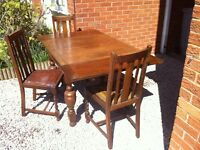 Vintage table and 3 chairs