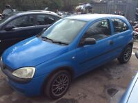 VAUXHALL CORSA 1.0 12v BLUE WITH ALLOYS LONG MOT