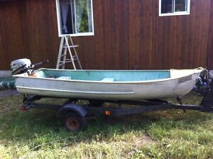 12 Foot Tinny with 6 Mariner and trailer