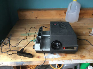 SLIDE PROJECTOR   And screens