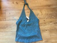 Brand new topshop sparkle halter neck top 12 Christmas?