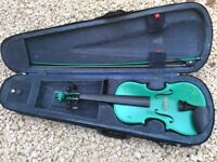 Stentor Harlequin Green 3/4 violin - hardly played!