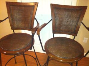 Pair of bar chairs.