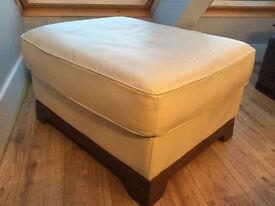 Quality leather ottoman / footrest from barker and stone house