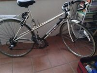 raliegh racing bike its all working and a lovely ride ,( retro )