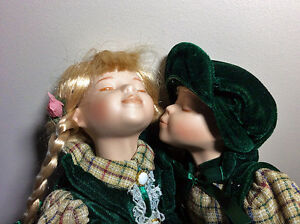 Porcelain Kissing Dolls set