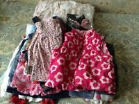 Girl's Bundle of Clothes. Girls aged 1 to 2 years. Variety of items