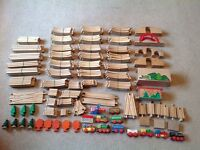 Huge Bundle of Brio/ELC Wooden Train Track Over 170 Pieces