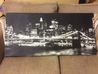 Black. & white new york night scene. Picture