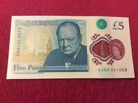 "AJ50 £5 "" VERY RARE"""