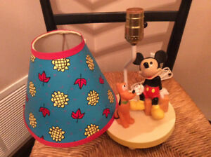 Vintage Disney Baby Nursery Disney Lamp Mickey And Pluto