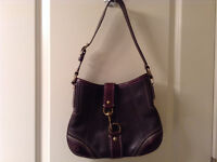 Coach brown shoulder bag - garage sale Sat Sept 5
