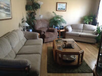Sofa and Love seat set + 2 end tables and coffee table