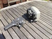 8mm projector and camera