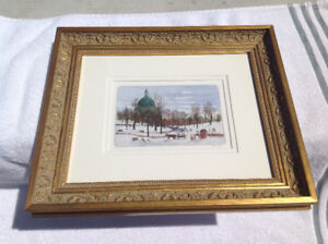 Professionally Framed Winter Scene Picture by Lucic