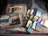 Various books, including Mills and Boon