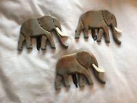 Coat hooks, elephant design