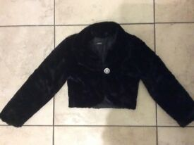 Girls Fur Jacket for Age 7-8 Years