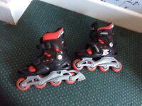 No fear adjustable roller blades size 1-4