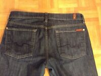 7 FOR ALL MANKIND FLARE JEANS 31 femme