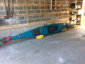 20' BOREAL DESIGNS INUKSHUK KAYAK ONE PERSON WITH 2 CARGO HOLES