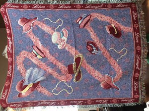Red Hatters Woven Throw