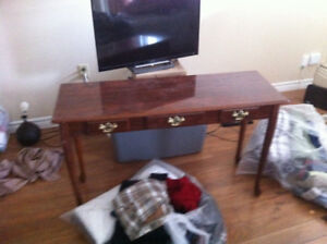 Mahogany victorian sofa table for sale .'moving must sale
