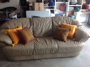 Leather Couch (Grey) (7 Foot)
