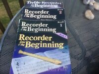 Recorders and music stands