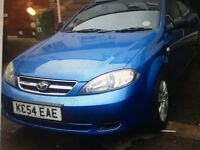 Daewoo lacetti 1.6 2004 with low mileage and 1year mot.