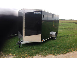 New custom built 7x14 enclosed trailer all aluminum