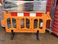 Firmus Plastic Pedestrian Barriers 2m x 1m Reflective strip stackable £29.50