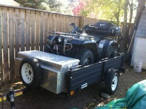 YAMAHA ATV COMPLETE WITH TRAILER/ HELMETS AND ACESS