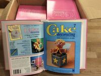 Cake decorating magazines in binders, complete
