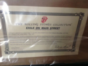 "Rolling Stones Framed ""Exile on Main Street"" Numbered Lithograph Oakville / Halton Region Toronto (GTA) image 3"