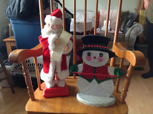 Set of two christmas decorations