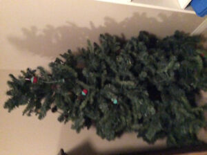 Christmas tree with lights 6 ft height