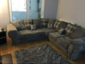 *5 Seater Verona Corner Sofa With Scatter Back Cushions