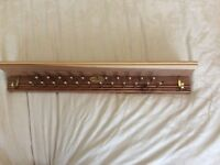 Jos. A. Bank tie rack &shelf or jewellery rack & shelf cedar wood