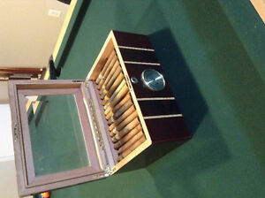 Cigar humidor with 24 imported cigars