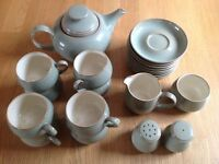 Denby tea set & salt and pepper pots
