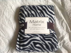 Brand new zebra print throw