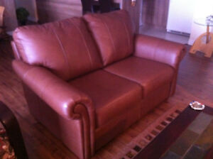 Causeuse CUIR et chaise inclinable assortie