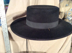 Felt Hat, chin string Wide Brim